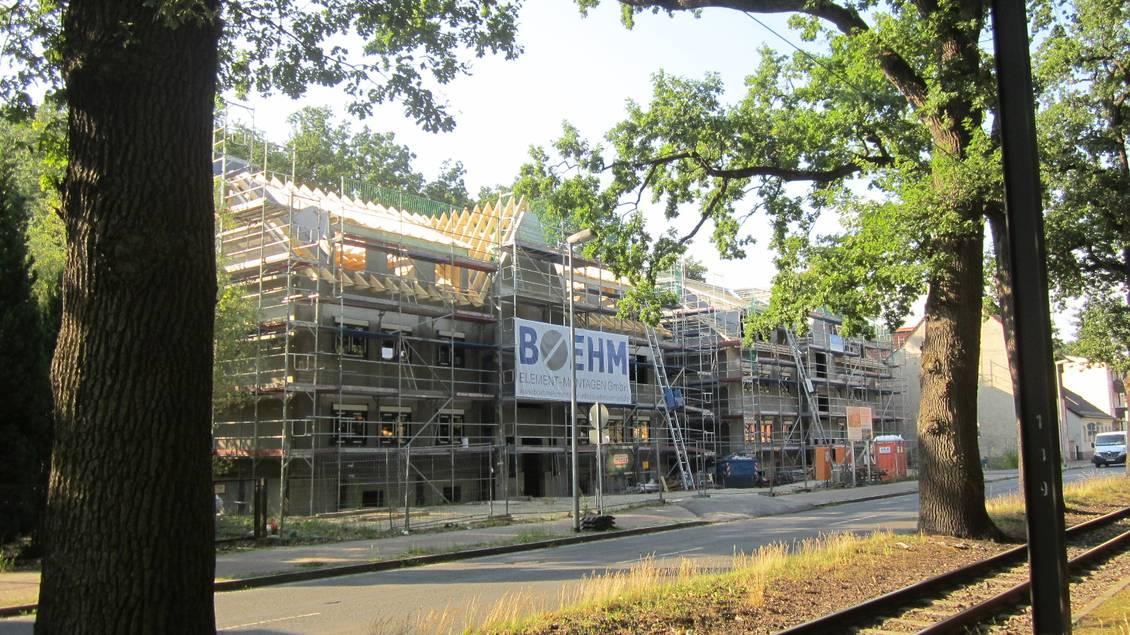 Baustelle auf dem Grundstück der ehemaligen Wäscherei Dörr (Dorfstraße 6)